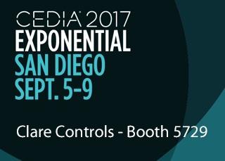 CEDIA 2017 Exponential San Diego Clare Controls