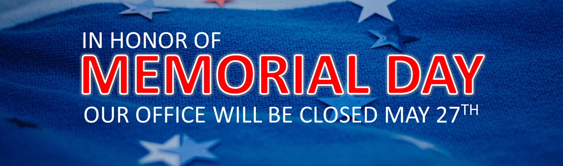 Email Banner - Memorial Day 2019