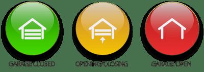 Garage Door Status Icons