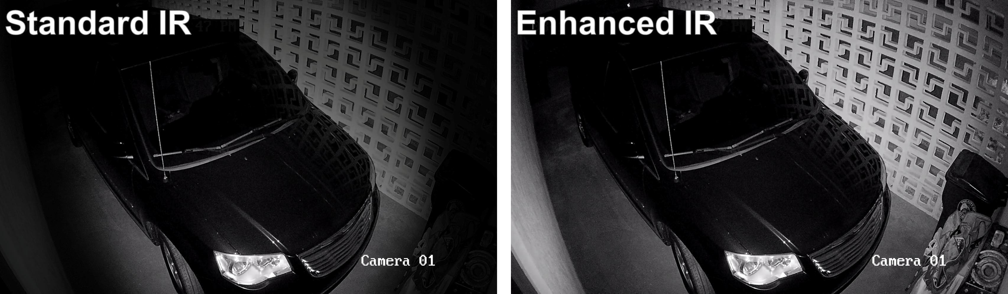 Camera Enhanced IR Comparison (Garage)