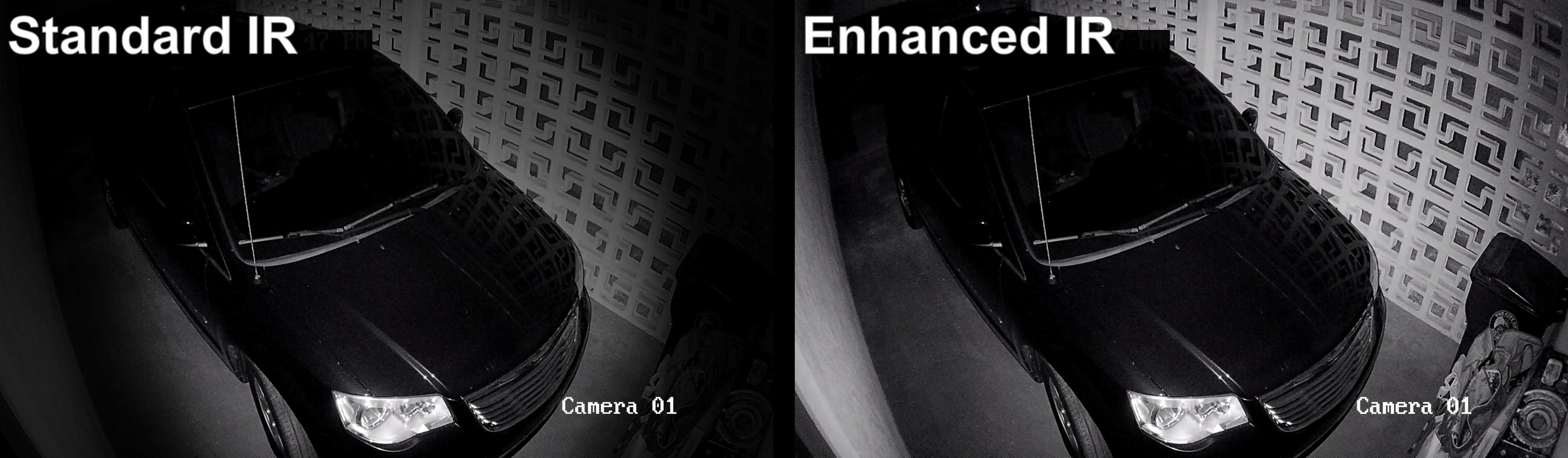 Camera Enhanced IR Comparison (Garage)