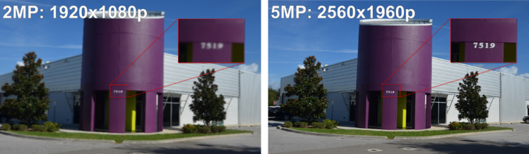 Camera Resolution Comparison (Clare Office)