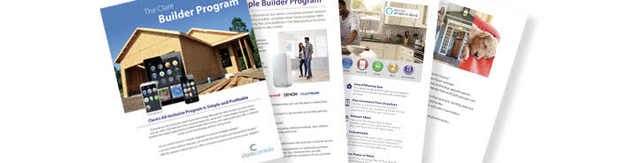 Brochure covering the Clare Builder Program