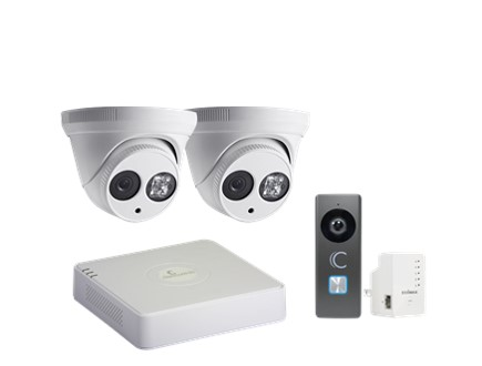 Clare Dealer Smart Home Video Monitoring Cameras and 4-Channel NVR Kit