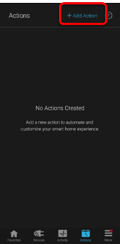 No actions created - add action