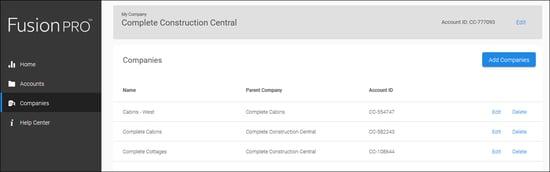 Company - Parent company page