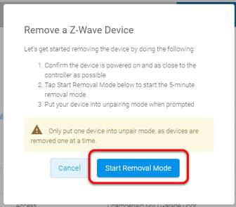 start removal mode