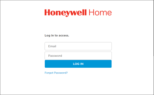 FusionPro - select honeywell - authorize - honeywell