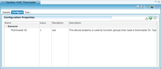Configuration tab (child)