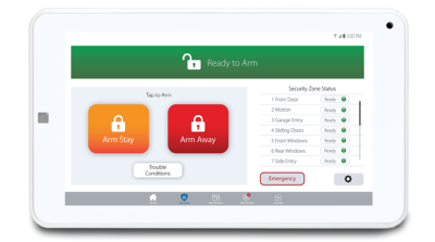 Clare Security Touchpanel