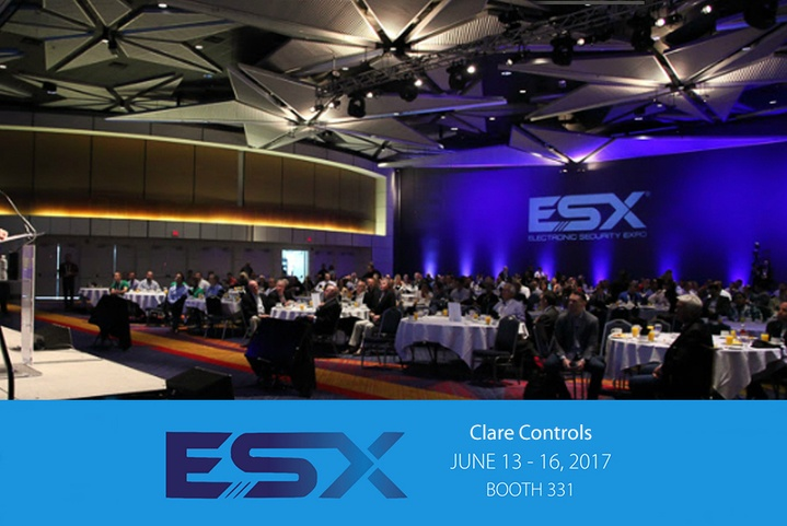 Clare Controls Attending the ESX Security Tradeshow
