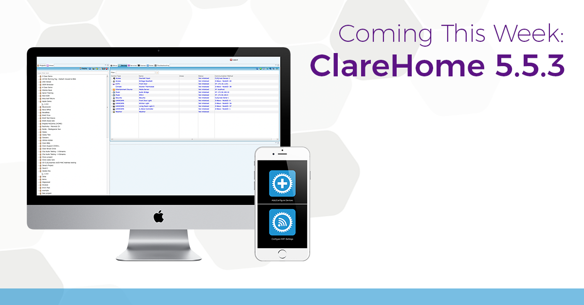 Releasing This Week: ClareHome Version 5.5.3