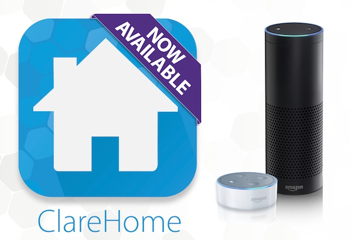ClareHome version 5.5 and Amazon Alexa Now Available!