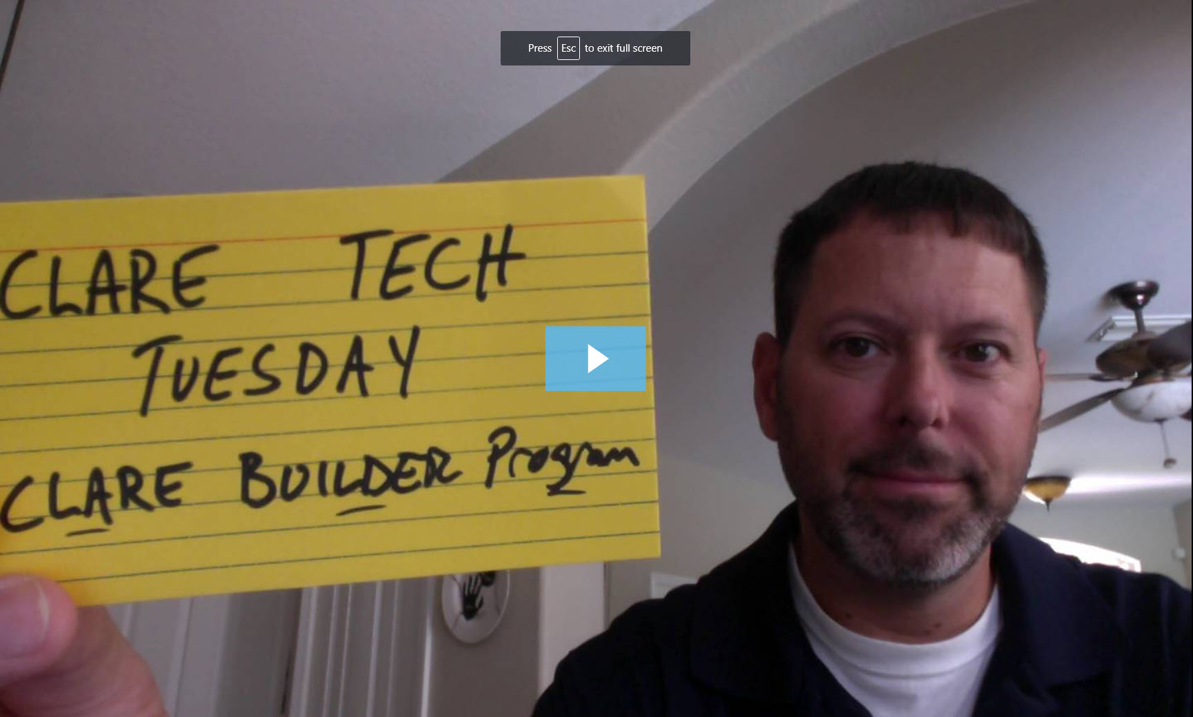 Clare Tech Tuesday: Clare Builder Program Overview