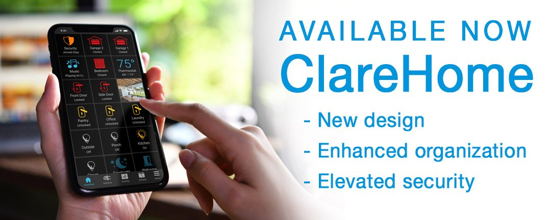 New ClareHome App update now available!