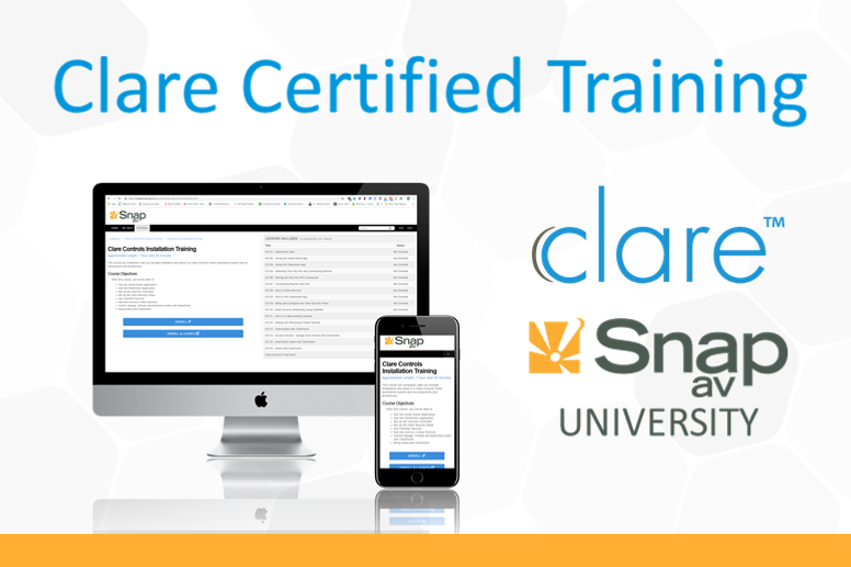 Clare Training Is Now Available Through The Snap University