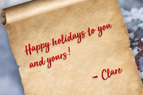 Happy Holiday From Your Friends At Clare!