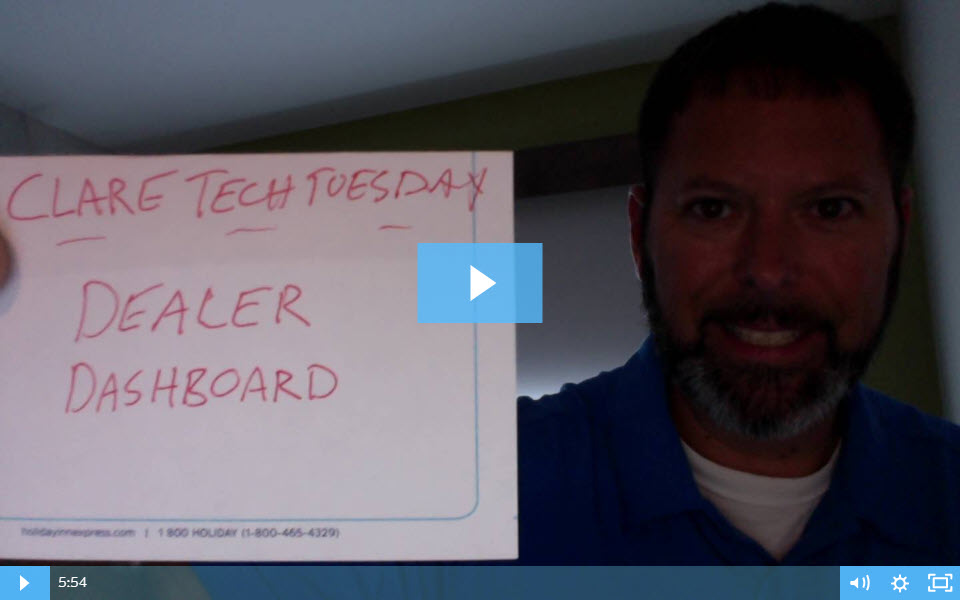 Clare Tech Tuesday: The Dealer Dashboard