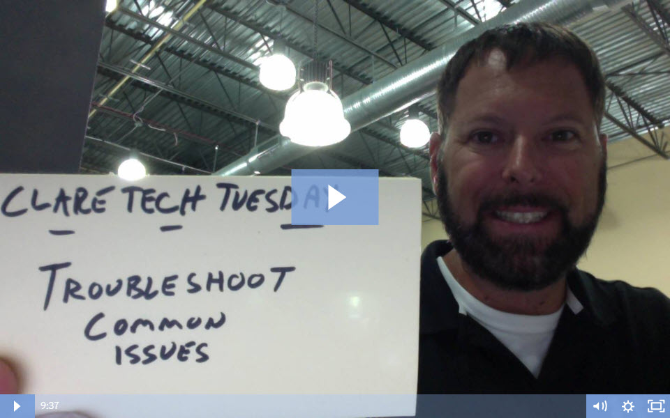 Clare Tech Tuesday: Troubleshooting Common Issues
