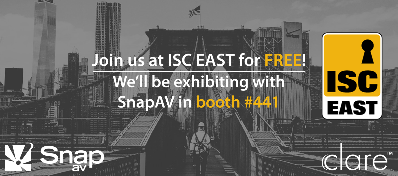 Join us at the ISC East Expo for FREE!
