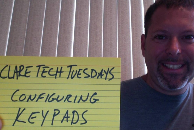 Clare Tech Tuesday: Configuring Keypads in ClareHome 5.5