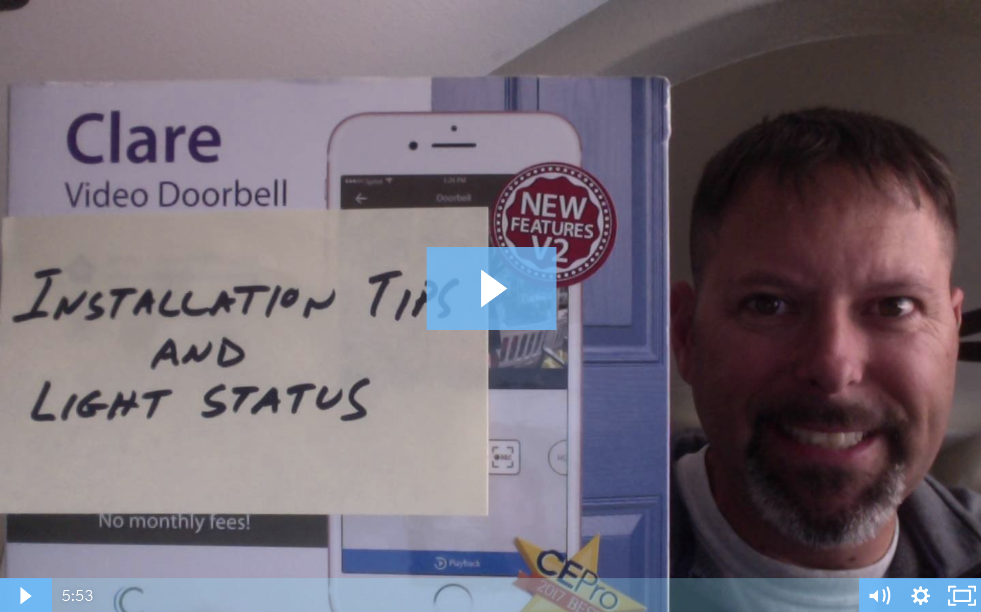 Clare Tech Tuesday: Clare Video Doorbell Installation Tips & Light Status