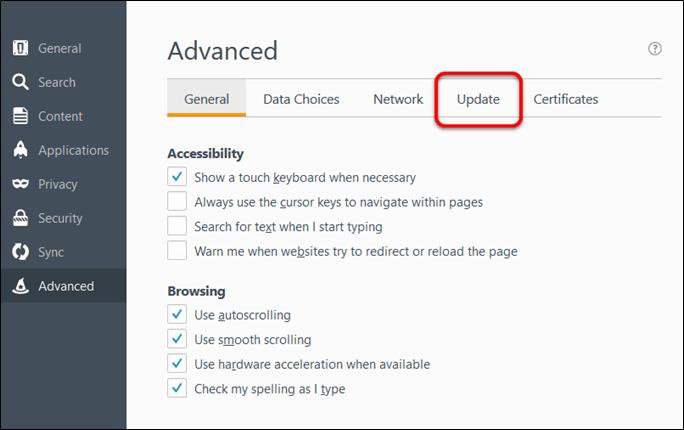 advanced - update