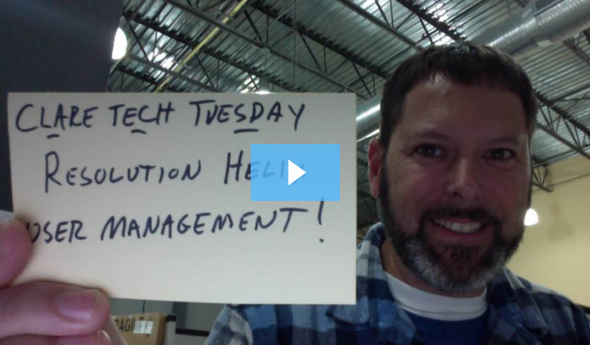 Clare Tech Tuesday: Resolution Helix User Management