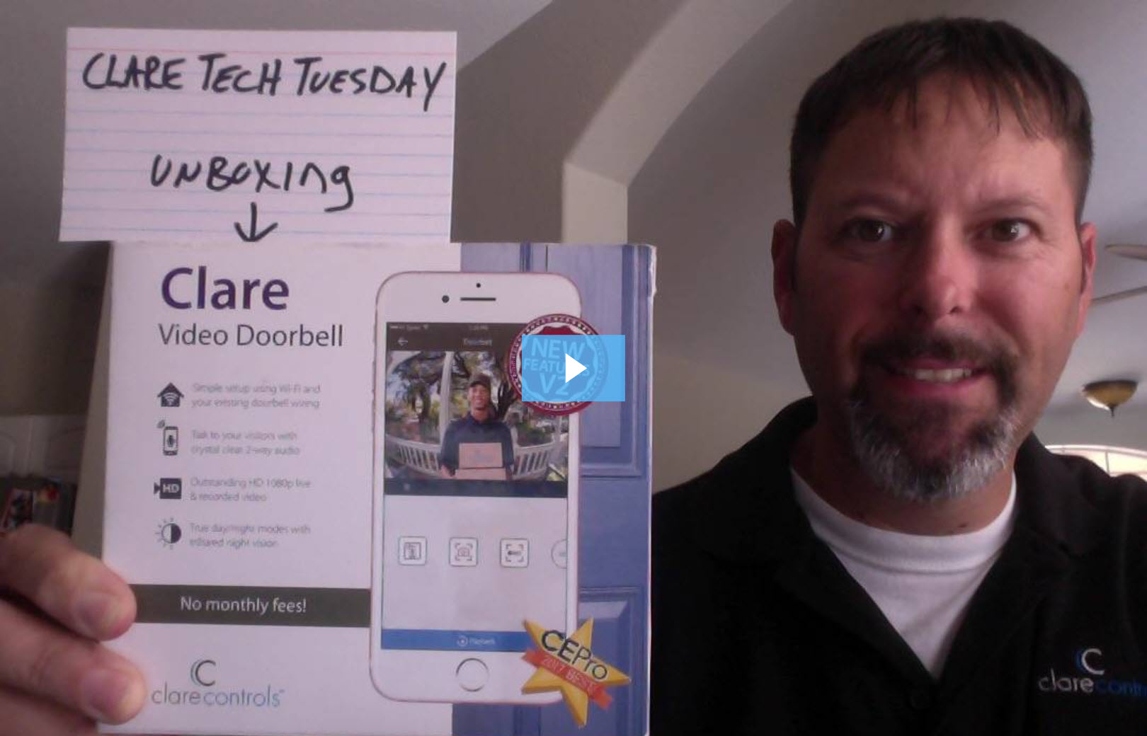 Clare Tech Tuesday: Clare Video Doorbell Unboxing